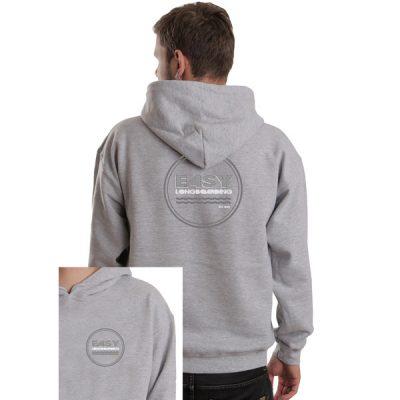Easy Longboarding Unisex Grey Hoodie